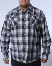 Button-down - Benjamin Roll Up Plaid Shirt (B&T)