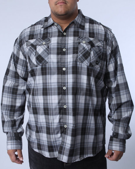 - Benjamin Roll Up Plaid Shirt (B&T)