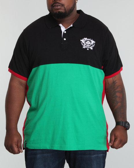 LRG Men Black Unite Nations S/S Polo (B&T)