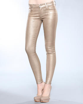 DJP OUTLET - Metallic Denim Skinny Jean