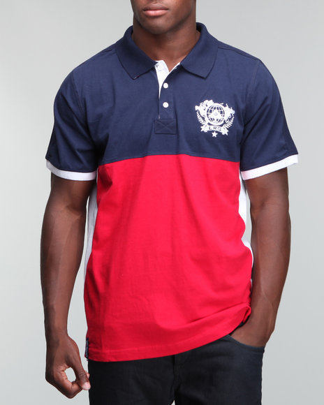 LRG Men Navy Unite Nations S/S Polo