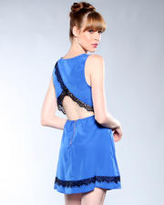 DJP Boutique - Criss Cross Open Back Lace Dress
