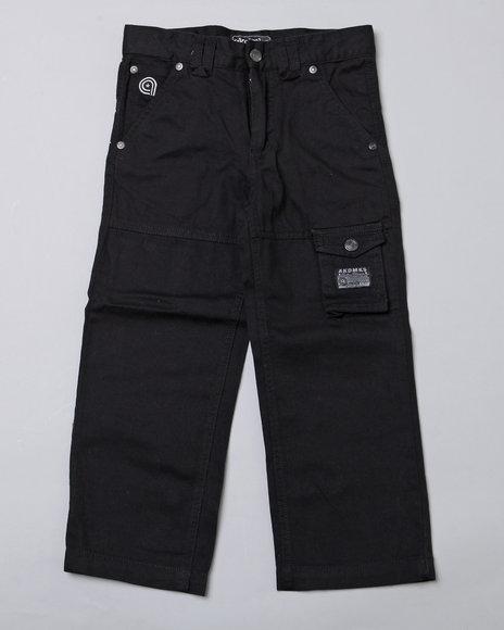 Akademiks Boys Black Sargeant Pants (2T-4T)
