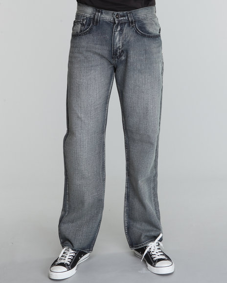 saddle stitch straight fit denim jeans