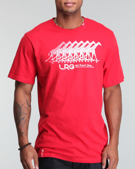Lrg Men Red Action Giraffe Son S/S Tee