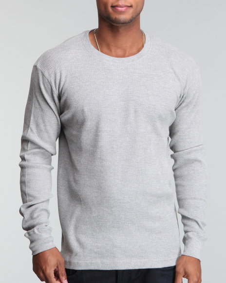 Basic Essentials Men Grey L/S Crewneck Thermal