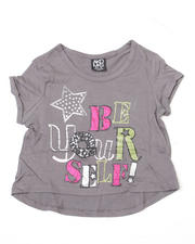 Girls - Stef Cropped Short Sleeve Tee (7-16)