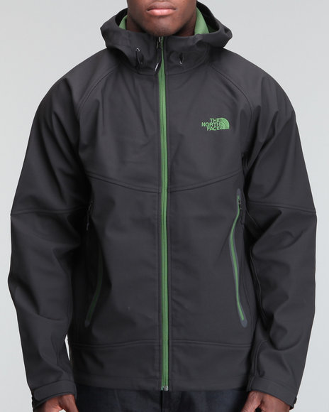 The North Face Men Black Dc Soft Shell Hoodie
