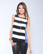 Tanks/Halters - Paolo Colorblock Stripe Top