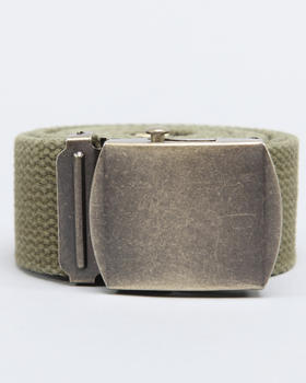 Basic Essentials - Vintage Wide Web Belt W/Antique Buckle