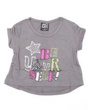 4-6X Little Girls - Stef Cropped Short Sleeve Tee (4-6X)
