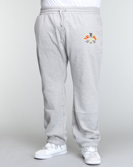 Rich Yung Men Grey Fleece Sweatpants
