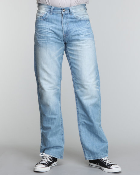Buyers Picks Men Blue Multi Detail Relaxed Fir Denim Jeans