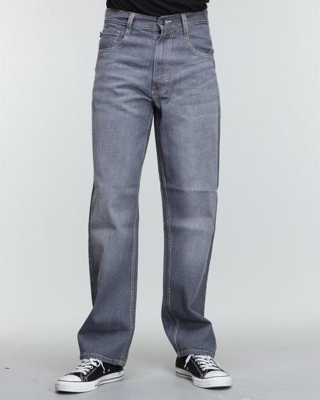 Akademiks Men Grey Rolodex Blasted Signature Denim Jeans