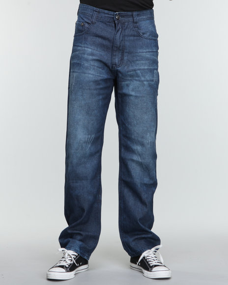 Akademiks Men Dark Wash The Conner Signature Denim Jeans