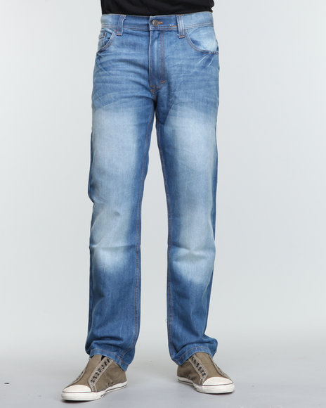 Akademiks - Men Blue The Emmy Signature Emb Denim Jeans