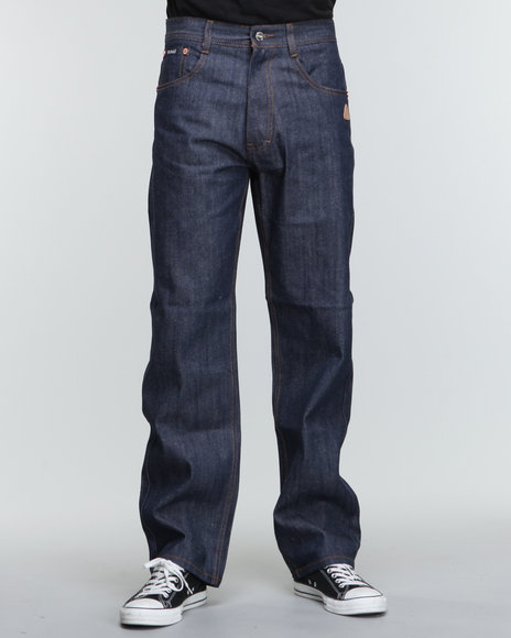 Akademiks Men Indigo The 365 Raw Denim Jeans