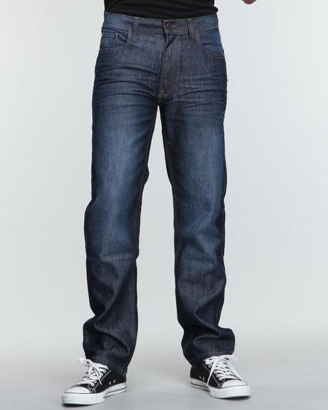 Akademiks Men Dark Wash The Timeless Signature Emb Denim Jeans