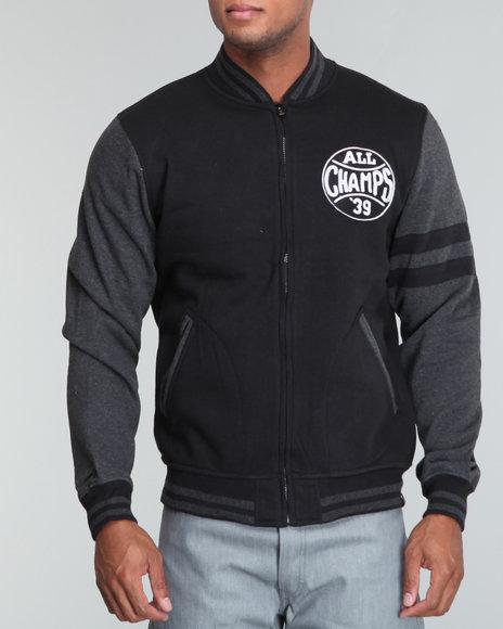 Buyers Picks Men Black All Champs Varsity Jacket