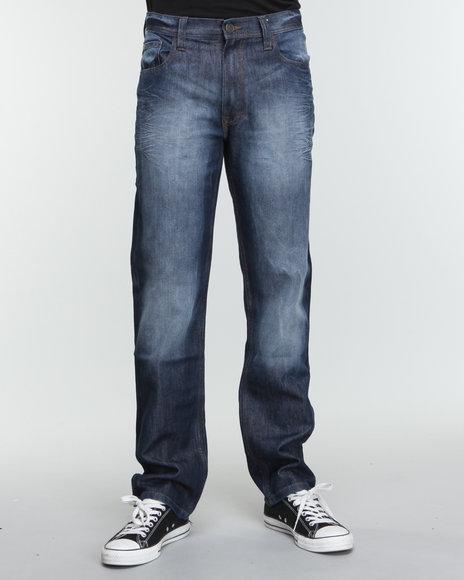 Akademiks Men Blue The Tony Signature Emb Denim Jeans