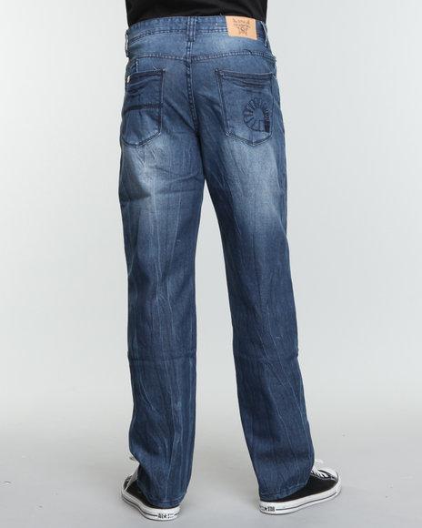 Akademiks Men Blue The Arthur Signature Denim Jeans