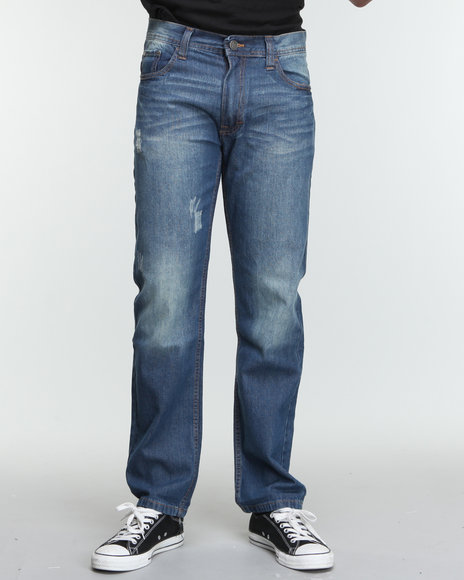 Akademiks - Men Dark Wash The Peacemaker Signature Emb Denim Jeans