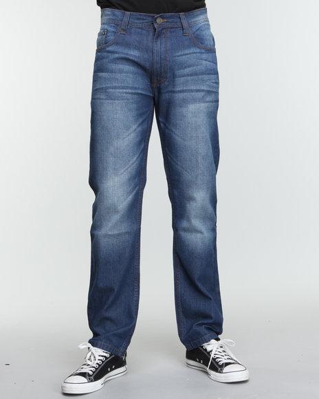 Akademiks Men Indigo The Source Signature Emb Denim Jeans