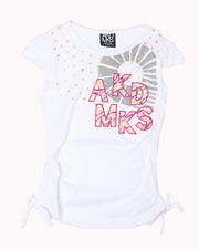 7-16 Big Girls - Nay Rouched Short Sleeve Tee (7-16)