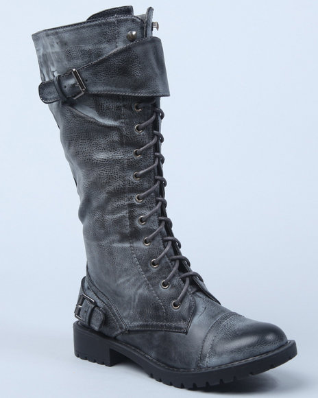 military laceup boot