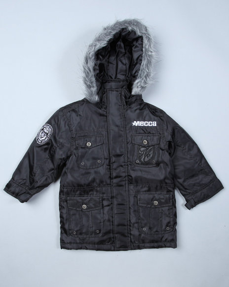 Mecca Boys Black Just Blaze Jacket (4-7)