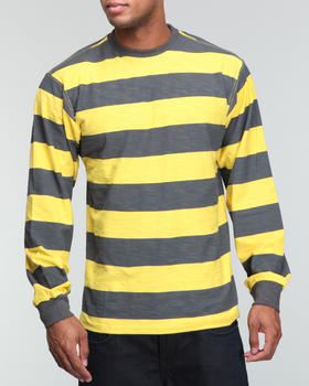 Basic Essentials - L/S Slub Jersey striped crew neck shirt