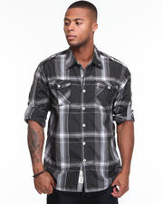 Shirts - Pan Handler Roll Up Long Sleeve Plaid Shirt