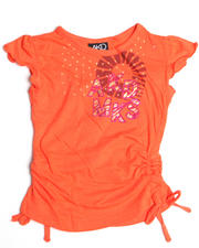 Girls - Nay Rouched Short Sleeve Tee (4-6X)