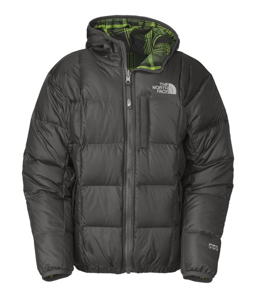 The North Face Boys Grey Reversible Down Moondoggy Jacket