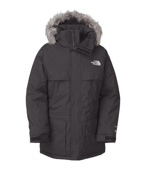 The North Face Boys Grey Mcmurdo Parka W/ Faux Fur Trim