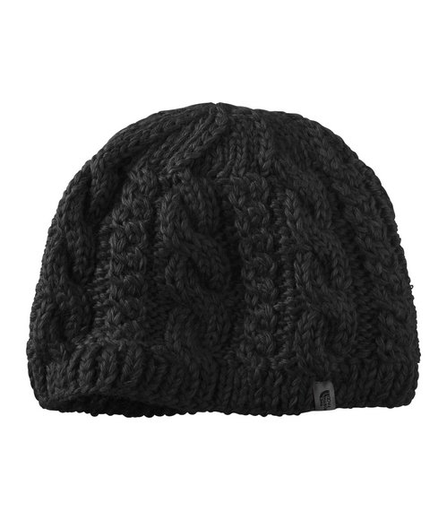 The North Face Black Cable Fish Beanie