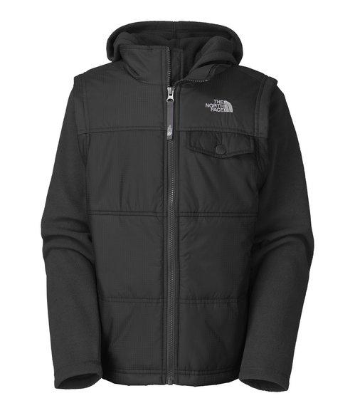The North Face Boys Black Vesty Vest Fleece Hoodie