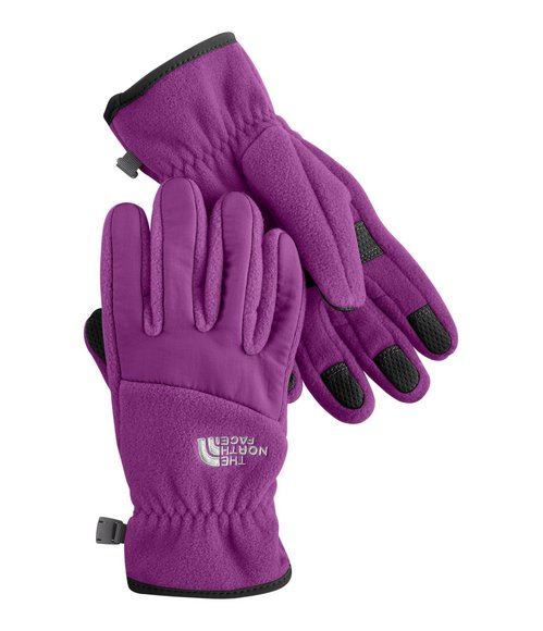 The North Face Girls Purple Denali Gloves