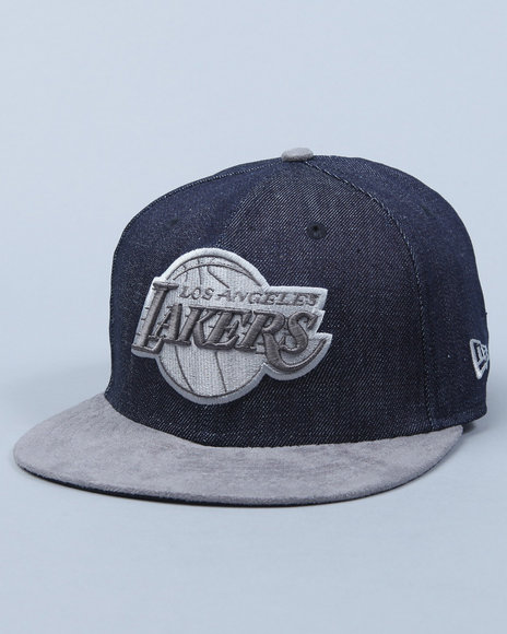 los angeles lakers denim suede adjustable cap