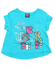 7-16 Big Girls - Stef Cropped Short Sleeve Tee (7-16)