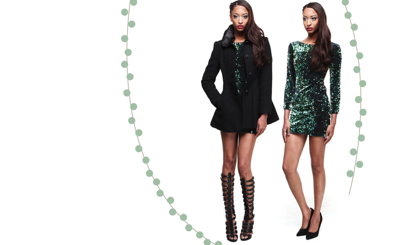 Holiday Metallic Looks for Women at DrJays.com